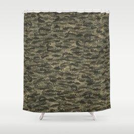 Fresh water fish camouflage Shower Curtain