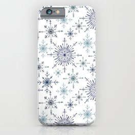 Snowflakes in Blue iPhone Case
