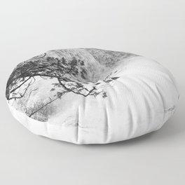 Gooseberry in Black and White Floor Pillow