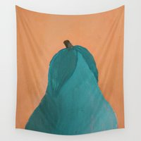 pear Wall Tapestries featuring Pear by seekmynebula