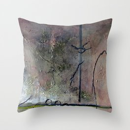 Through the Curtains Darkly Throw Pillow
