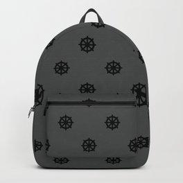 Dharma Wheel Pattern (grey) Backpack
