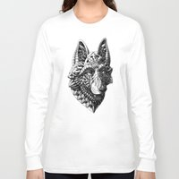 german Long Sleeve T-shirts featuring German Shepherd by BIOWORKZ