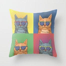 Cats Art Throw Pillow