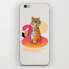 Chillin (Flamingo Tiger) iPhone Skin