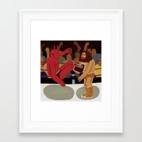 fight Framed Art Prints featuring Fight by Jack Teagle
