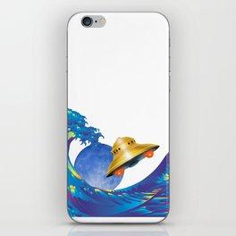Hokusai Rainbow, UFO & the Moon  iPhone Skin