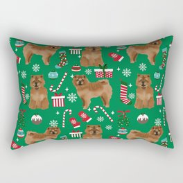 Chow Chow christmas dog breed gifts pet portraits dog lover pattern Rectangular Pillow