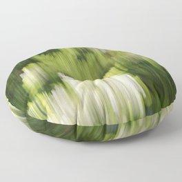 Green Hue Realm Floor Pillow