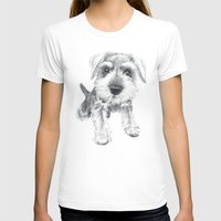 schnauzer T-shirts featuring Schnozz the Schnauzer by Beth Thompson