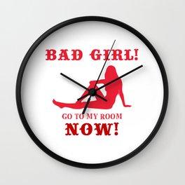 PUA seducer womanizer pretty girls bad girl rock hustle like sign pray tshirts quote meme Wall Clock