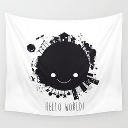 Hello, world! Wall Tapestry