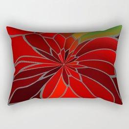 Abstract Poinsettia Rectangular Pillow