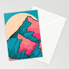 Turquoise peaks Stationery Cards