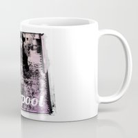 liverpool Mugs featuring LIVERPOOL by TOO MANY GRAPHIX