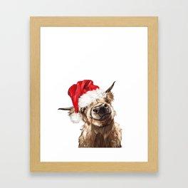 Christmas Highland Cow Framed Art Print