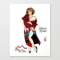 Catherine Martell Pin-up Canvas Print