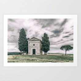Cappella della Madonna di Vitaleta Art Print