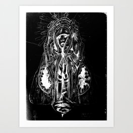 Black. Fly. Maria. Art Print