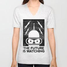 The Future Is Watching Unisex V-Neck