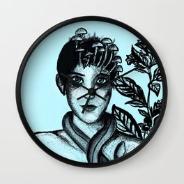 Blue Belladonna | Blue | Belladonna | Portrait | Art | Portrait Wall Clock