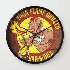 Yoga Flame Grilled BBQ Wall Clock