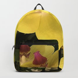 Vibrant Yellow Orchid Flowers 'Waterfall' Photo Backpack
