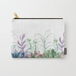 Succulents in The Garden Carry-All Pouch
