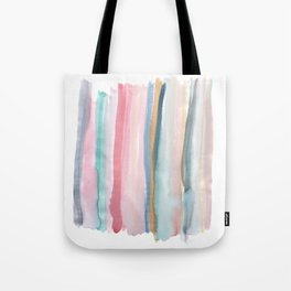Watercolor stripe Tote Bag