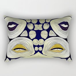 mouths in ripples  Rectangular Pillow