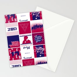 """Seventeen """"Director's Cut"""" Pattern Stationery Cards"""