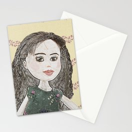Drawing of a Girl Stationery Cards