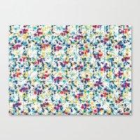 splatter Canvas Prints featuring Splatter by Regan McDonell Design