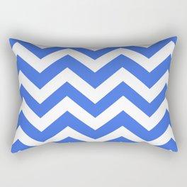 Bluetiful - blue color - Zigzag Chevron Pattern Rectangular Pillow