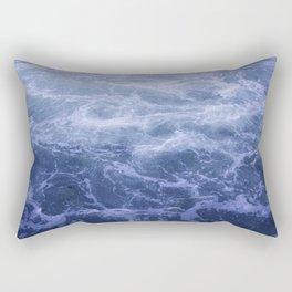 Blue Water Crashes at Lock 19 Rectangular Pillow