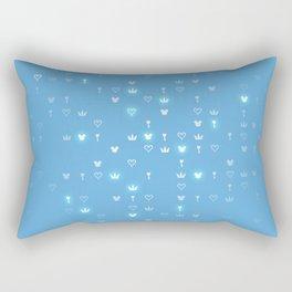 Kingdom Hearts Blue Pattern Rectangular Pillow