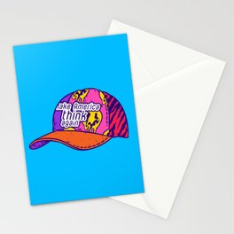 Make America think again Stationery Cards