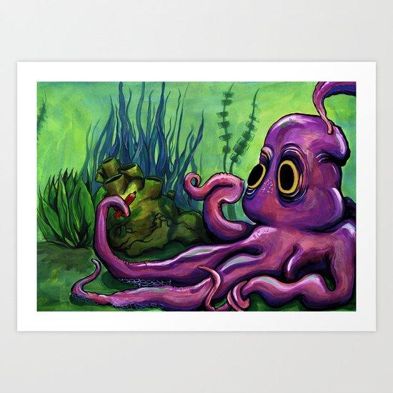 Leo the Octopus Art Print