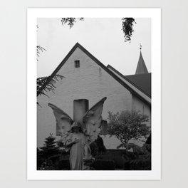 Peaceful Churchyard in Denmark II Art Print