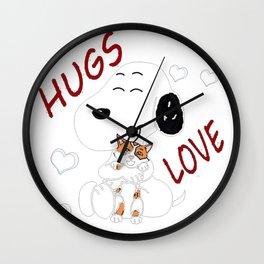 snoopy love Wall Clock