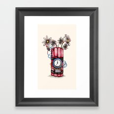 Daises & Dynamite  Framed Art Print