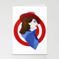 agent carter Stationery Cards featuring Agent Carter by fabulosaurus