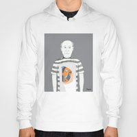 pablo picasso Hoodies featuring Pablo Picasso portrait by Irene LoaL