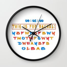 This Is For Rachel TikTok Voicemail Abbreviation Viral tiktok Funny Meme Wall Clock