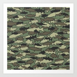 Fish Camo JUNGLE Art Print