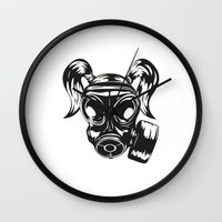 gamer Wall Clocks featuring Girl Gamer by FOR THE BOLD
