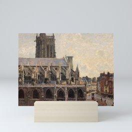 """Camille Pissarro """"L'Église Saint-Jacques à Dieppe, soleil, matin"""" Mini Art Print"""
