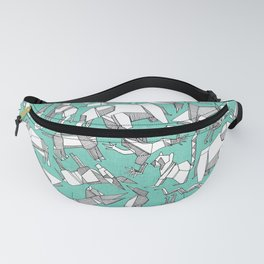 origami animal ditsy mint Fanny Pack