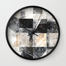 Neutral Colors Collage Wall Clock