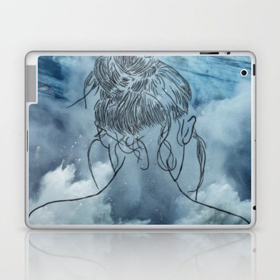 Lonely woman Laptop & iPad Skin